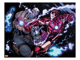 Avengers: X-Sanction No.2: Cable and Iron Man Fighting Prints by Ed McGuiness