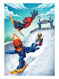 Marvel Super Hero Squad: Spider-Man, Human Torch, and Wolverine Posters
