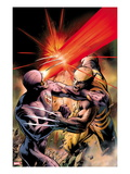 X-Men: Schism 4 Cover: Cyclops Fighting Wolverine with an Optic Blast Posters by Alan Davis