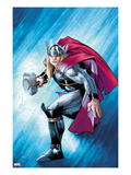 The Mighty Thor No.12.1 Cover: Thor with Mjonir Print by Olivier Coipel