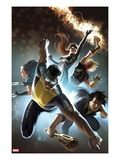 Fear Itself: The Home Front 6 Cover: Power Man, Amadeus Cho, X-23, Spider-Girl, and Thunderstrike Affiches par Marko Djurdjevic