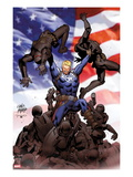 Steve Rogers: Super-Soldier No.2 Cover: Steve Rogers Prints by Carlos Pacheco