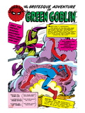 Spider-Man: Panel with Spider-Man&#39;s First Battle with Green Goblin Posters