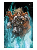 Astonishing Thor No.3: Thor Running with Mjonir Posters by Mike Choi