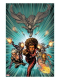 Heroes For Hire 12 Cover: Misty Knight, Iron Fist, Black Cat, Silver Sable, Paladin, Moon Knight Art by David Yardin