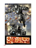 Invincible Iron Man No.32: War Machine Flying Prints by Salvador Larroca