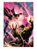 Incredible Hulks No.619 Cover: Hulk and Dr. Strange Fighting Prints by Carlo Pagulayan
