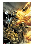 Daken: Dark Wolverine 4 Cover: Daken, Thing, Human Torch, Mr. Fantastic, and Invisible Woman Art by Giuseppe Camuncoli