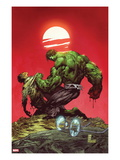 Incredible Hulk No.3: Hulk and Bruce Banner Fighting Láminas por Marc Silvestri