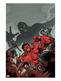 Hulk 50 Cover: Red Hulk Fighting Print by Carlo Pagulayan
