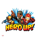 Marvel Super Hero Squad Badge: Hero Up! Nick Fury, Wolverine, and Iron Man Charging Posters