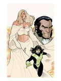 Uncanny X-Men No.529 Cover: Emma Frost, Shadowcat, and Sebastian Shaw Posing Posters by Terry Dodson