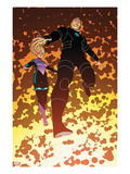 FF No.15: Franklin and Valeria Richards Flying Prints by Nick Dragotta