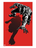 Black Panther: The Most Dangerous Man Alive No.523.1 Cover: Black Panther Crawling Print by Patrick Zircher
