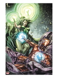 X-Men Legacy No.255 Cover: Polaris and Magneto Fighting Posters by Mico Suayan
