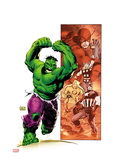 Hulk Smash Avengers 1 Cover: Hulk Running and Screaming Prints by Lee Weeks