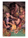 Wolverine &amp; The X-Men 6 Cover: Wolverine with Kid Omega Print by Nicholas Bradshaw