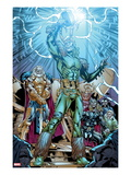 Marvel Adventures Super Heroes 19: Loki Standing with Mjolnir Prints by Kevin Sharpe