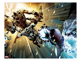 Captain America: Man out of Time 5: Captain America, Thor, Giant Man, and Iron Man Charging Art by Jorge Molina