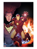 Iron Age: Alpha 1 Cover: Iron Man in front of a Planetary Explosion Poster by Ariel Olivetti