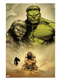 Incredible Hulk No.611: Hulk and Skaar Prints by Paul Pelletier
