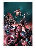 The Amazing Spider-Man 683 Cover: Spider-Man, Captain America, Hawkeye, Black Widow, and Iron Man Art by Stefano Caselli