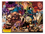 X-Men No.1: 20th Anniversary Edition: A Villains Gallery Prints by Jim Lee