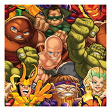 Marvel Super Hero Squad: Juggernaut, Mole Man, Dormammu, Abomination, Loki, and Enchantress Posing Poster