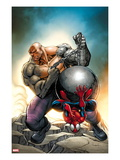 Marvel Adventures Spider-Man 24 Cover: Spider-Man and Absorbing Man Print by Ale Garza