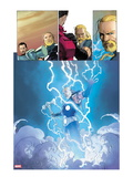 Ultimate Comics Ultimates 3: Thor Flying in Lightining and Energy Prints by Esad Ribic