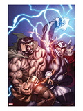 Chaos War 1 Cover: Hercules and Thor Fighting Posters by Ed McGuiness