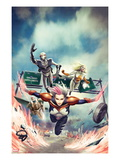 Thunderbolts No.161 Cover: Songbird, Moonstone, Ghost, and Mach-V Flying Posters by Jean-Sebastien Rossbach
