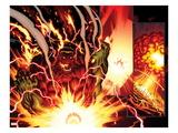 Hulk No.24: Panels with Rulk Smashing Prints by Ed McGuinness