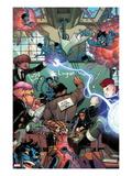 Wolverine & The X-Men No.4 Cover: Wolverine, Blindfold, Kid Omega, Broo, Idie, Kid Gladiator Prints by Nicholas Bradshaw