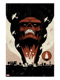 Red Skull No.1 Cover: Headshot of Red Skull Posters by David Aja