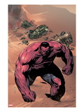 Hulk of Arabia Ashcan No.1 Cover: Red Hulk Walking Up a Dune Poster by Patrick Zircher