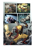 Origins of Marvel Comics: X-Men No.1: Colossus Fighting Posters by David Yardin