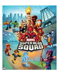 Marvel Super Hero Squad: Thor, Spider-Man, Iron Man, Colossus, Cyclops, Iceman, and Hawkeye Running Posters