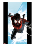 Ultimate Spider-Man No.1 Cover: Spider-Man Swinging Poster by Kaare Andrews