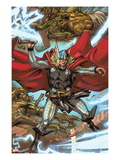 Thor: Heaven and Earth 3: Thor Smashing with Mjolnir Posters by Pascal Alixe