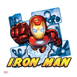 Marvel Super Hero Squad Badge: Iron Man Flying Affiches