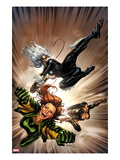 X-Factor 217 Cover: Black Cat, Siryn, and M Flying Prints by David Yardin