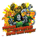 Marvel Super Hero Squad: Prepare to be Defeated! Abomination, Loki, Dr. Doom, and Doctor Octopus Print