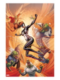 Spider-Island: The Amazing Spider-Girl 3 Cover: Spider-Girl Fighting and Jumping Posters by Ale Garza