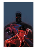 Shadowland: Spider-Man No.1 Cover: Spider-Man and Shang-Chi Posing Art by Stephane Hans