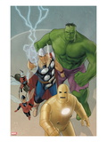 Avengers: The Origin 5 Cover: Iron Man, Wasp, Ant-Man, Thor, Hulk Prints by Phil Noto