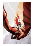 Thor: Heaven and Earth 4: Thor Fighting in the Sky Prints by Stephane Perger