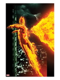 Ultimate X-Men 2 Cover: The Human Torch Flying Prints by Kaare Andrews