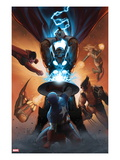Annihilators: Earthfall 1 Cover: Captain America, Beta-Ray Bill, Wolverine and Others Fighting Prints by John Tyler Christopher
