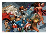 X-Men Forever 2 15: Storm ,Scarlet Witch, Quicksilver, Captain America, Thor, Vision, and Others Posters by Andy Smith